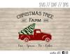 christmas tree farm red truck digital art