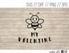 bee my valentine digital art