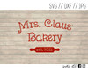 mrs claus bakery digital art