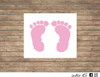 baby feet decal