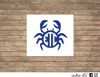 crab monogram decal