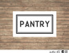 pantry decal