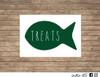 cat fish treats decal