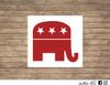 Republican Elephant decal