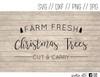 farm fresh christmas trees digital art