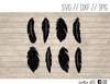 feather earrings digital art