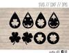 shamrock teardrop earrings digital art