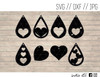 valentines day earrings digital art
