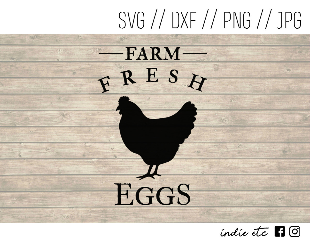 Farm Fresh Eggs Digital Art File Svg Dxf Png Jpeg