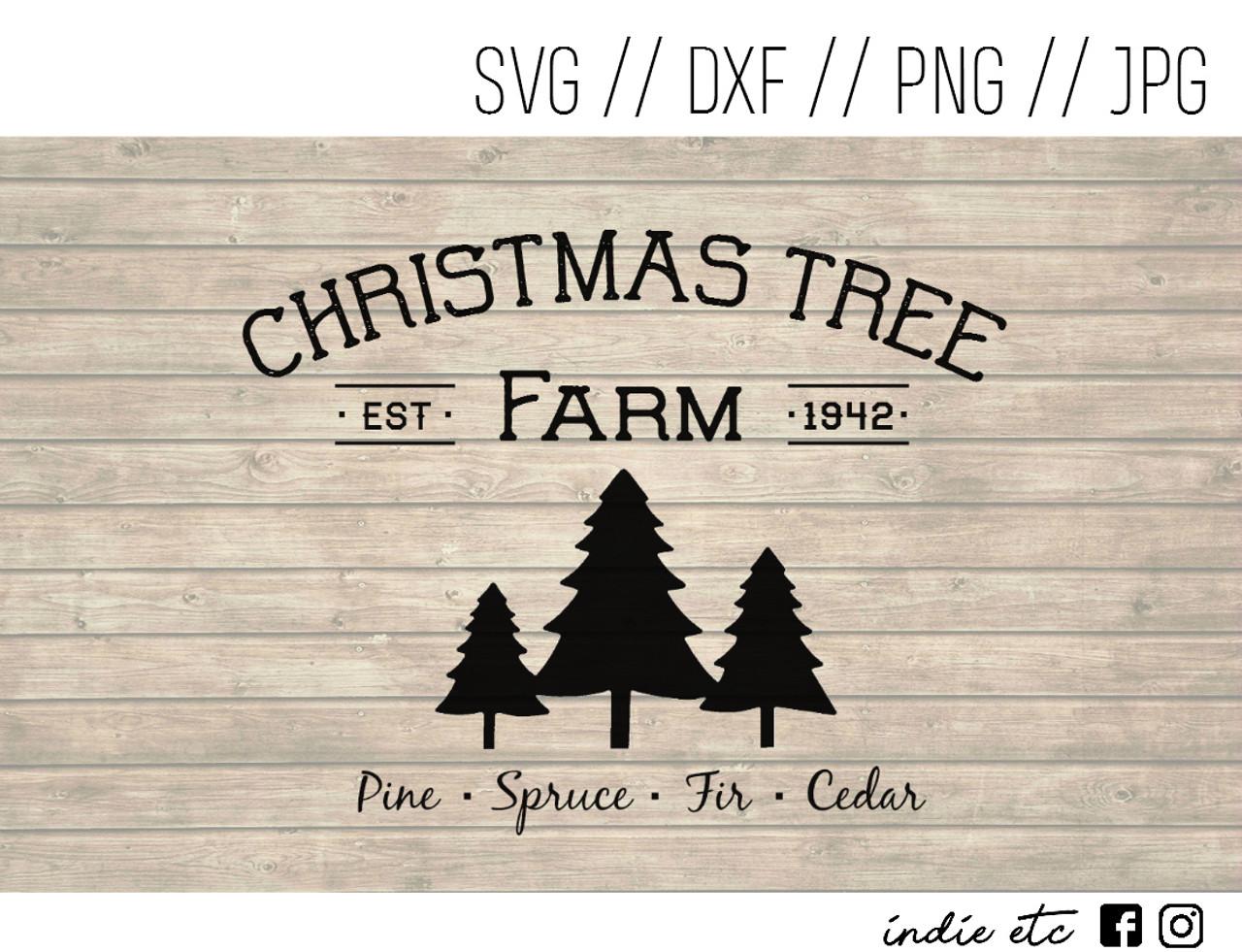 Christmas Tree Farm Digital Art File (svg, dxf, png, jpeg)
