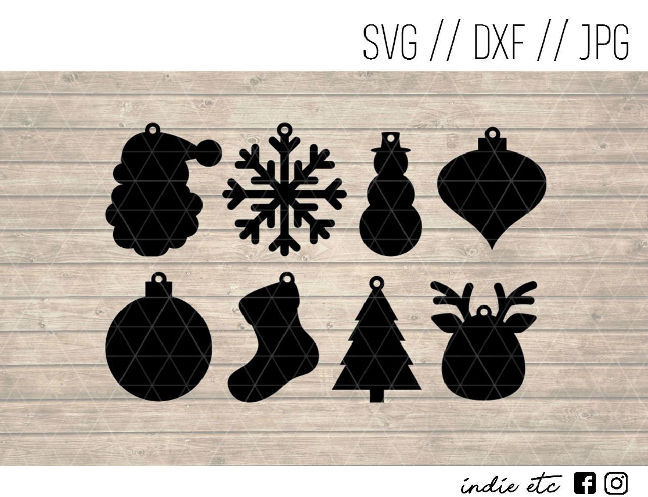 Christmas Earrings Digital Art File Svg Jpeg Dxf Cut File