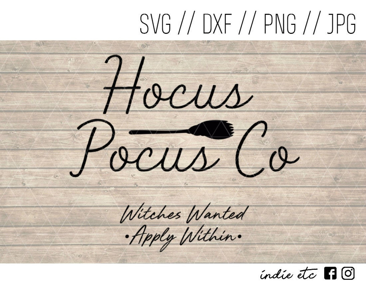Hocus Pocus Co Witches Wanted Digital Art File Svg Jpg Png