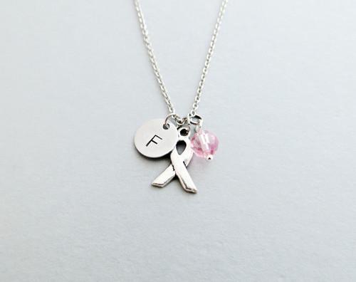 awareness ribbon charm necklace