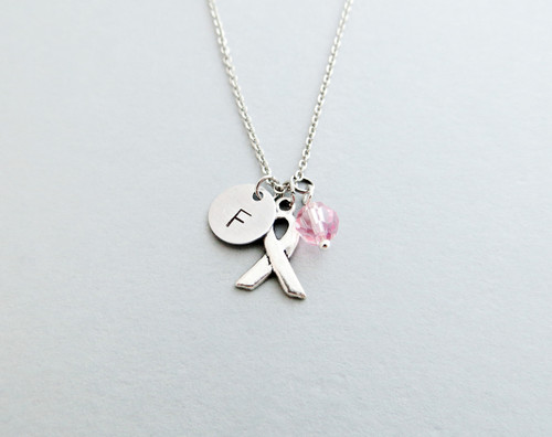 awareness ribbon charm necklace