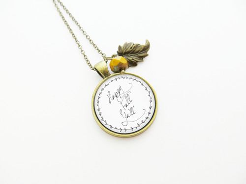 happy fall ya'll necklace