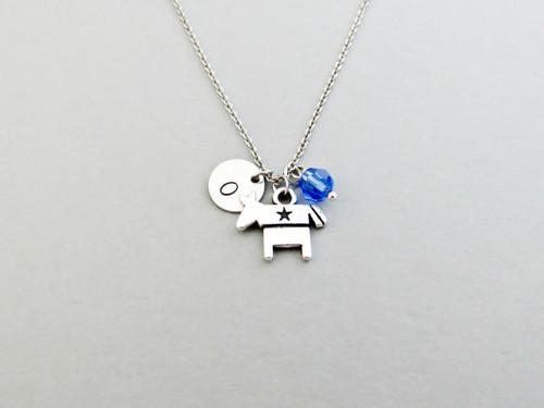 donkey charm necklace