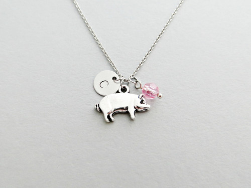 pig charm necklace