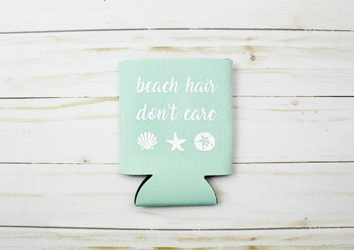 beach hair koozie
