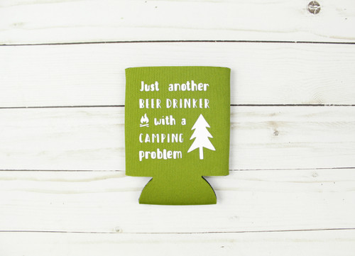 camping problem koozie