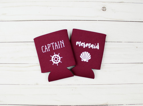 captain mermaid koozie