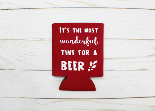wonderful time christmas koozie