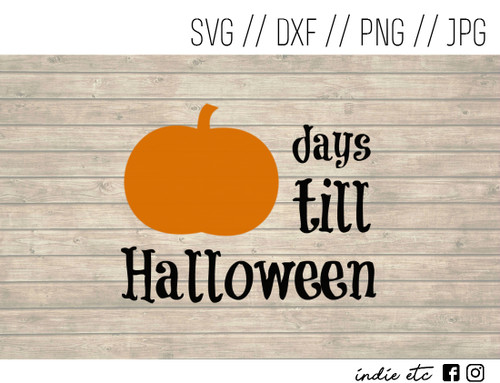 halloween countdown digital art