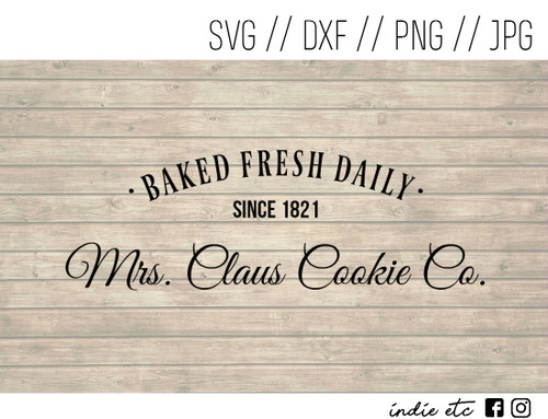 mrs claus cookie digital art