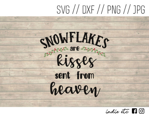 snowflakes kisses digital art