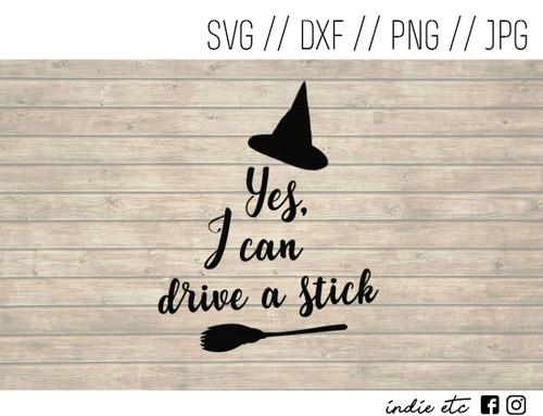 drive a stick witch digital art