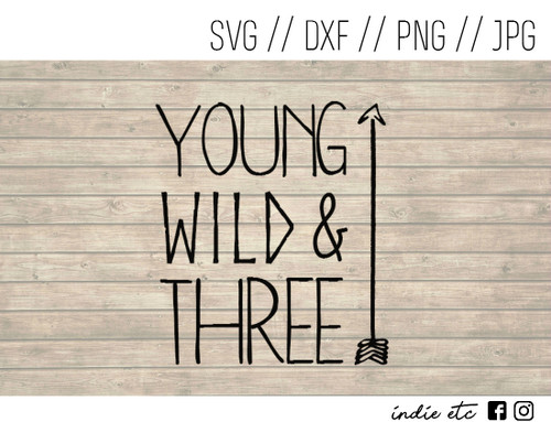 young wild and three digital art