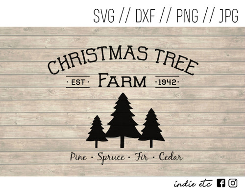 christmas tree farm digital art