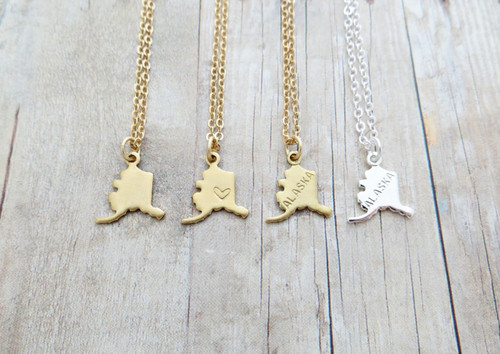 Alaska charm necklace