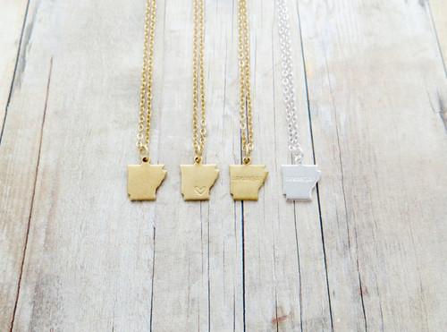 arkansas charm necklace