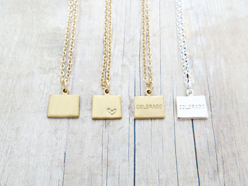 colorado charm necklace
