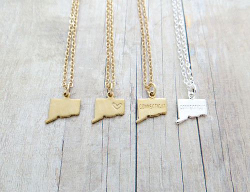 connecticut charm necklace