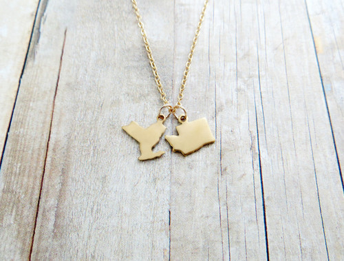 two state charms necklace