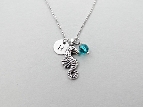 seahorse initial charm