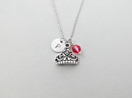 crown initial charm