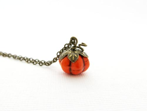 round pumpkin charm