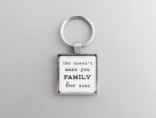dna family love keychain