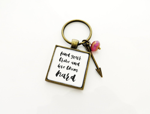 your tribe love keychain