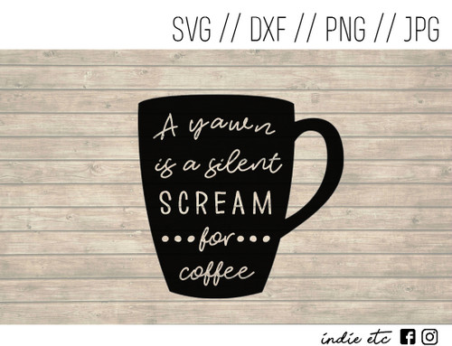 scream for coffee digital art