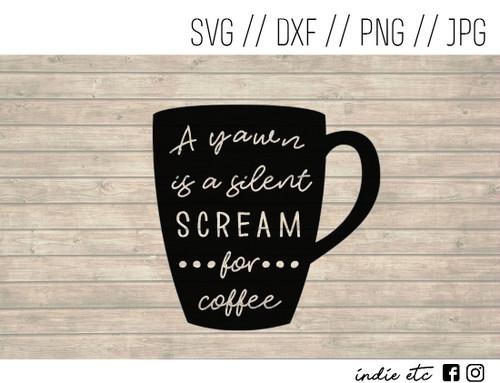scream for coffee digital art