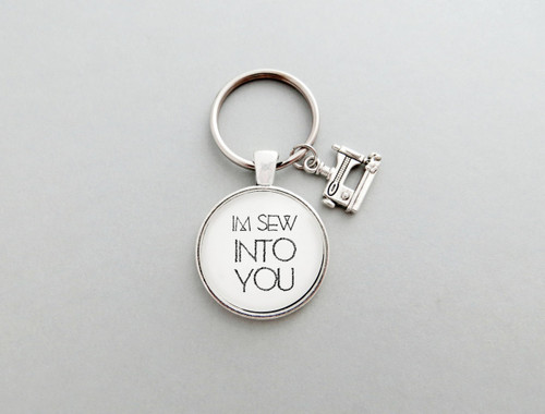 I'm sew into you keychain
