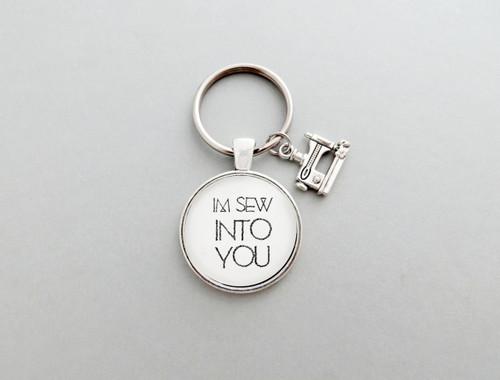 I'm sew into you keychain