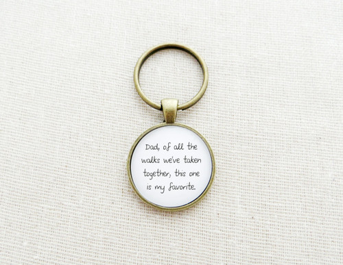 walks favorite dad keychain