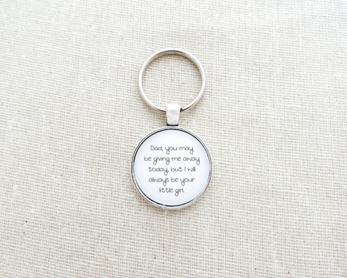 dad little girl keychain