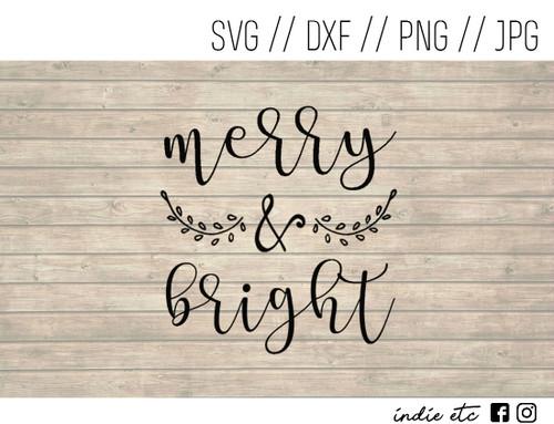 merry and bright digital art