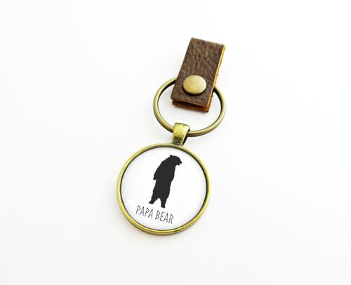 papa bear keychain