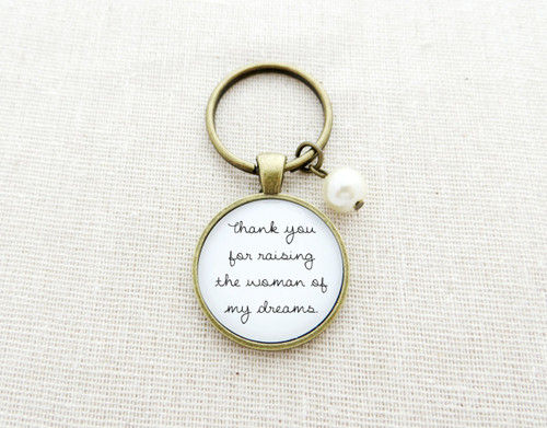 thank you woman keychain